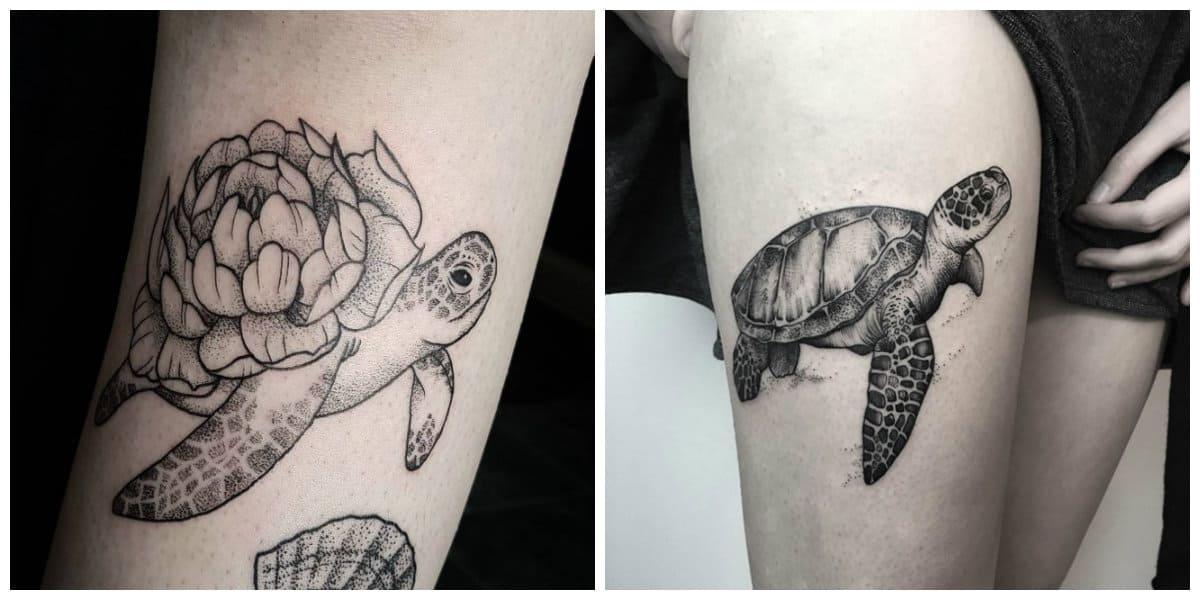 Tatuajes de tortugas- algunas tendencias principales para hombre y mujer