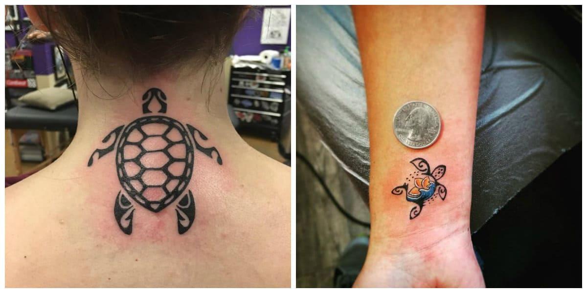 Tatuajes de tortugas- es una tendencis muy popular entre chicas modernas