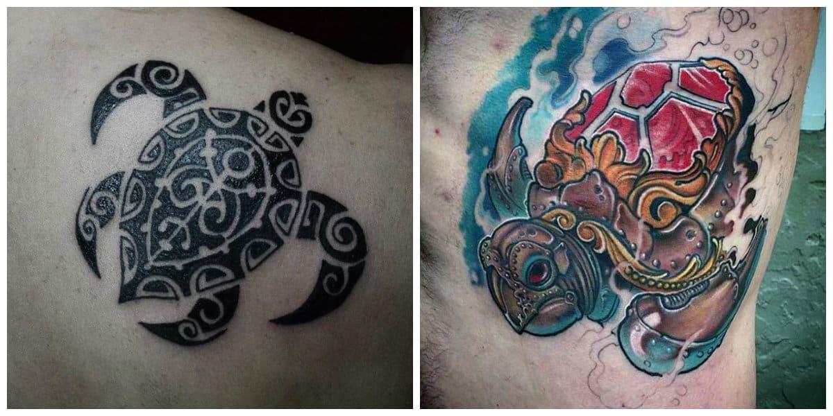 Tatuajes de tortugas- tiene fuerte simboligia en diferentes culturas