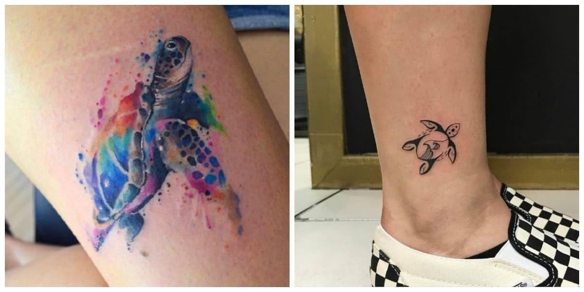 Tatuajes de tortugas- se puede ser de diferentes tamanos y colores