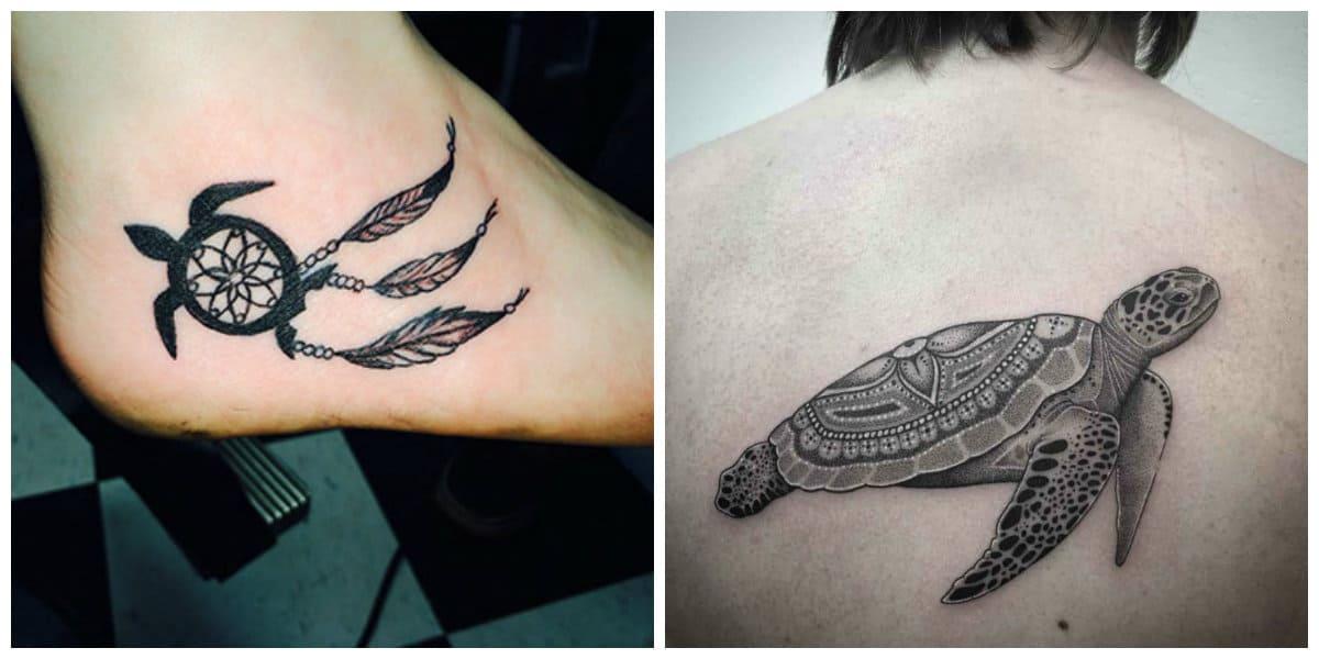 Tatuajes de tortugas- los hombres lo ponen sobre la espalda y en brazos