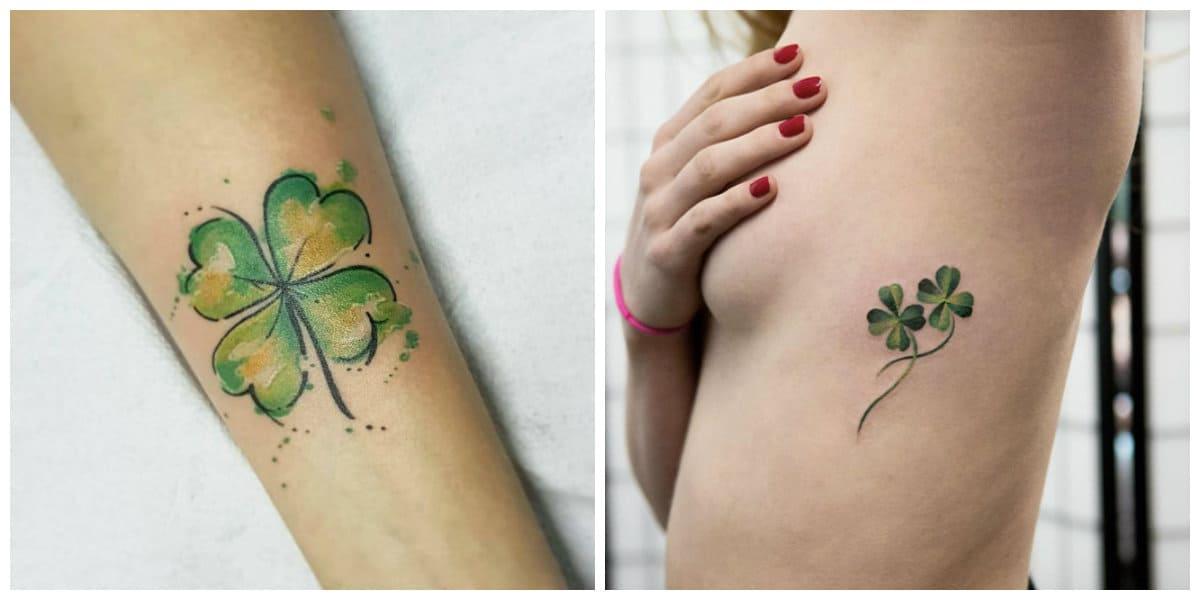 Tatuajes de trebol- color verde que es muy divulgado entre tendencias