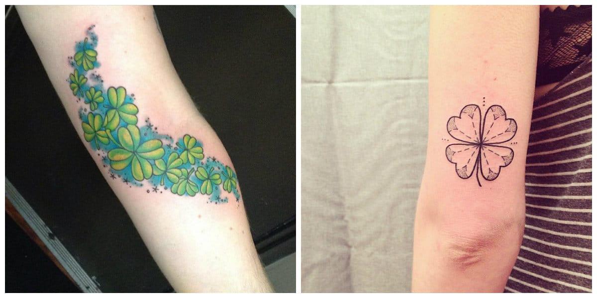 Tatuajes de trebol- ideas muy perfectas para amantes de este tatuaje