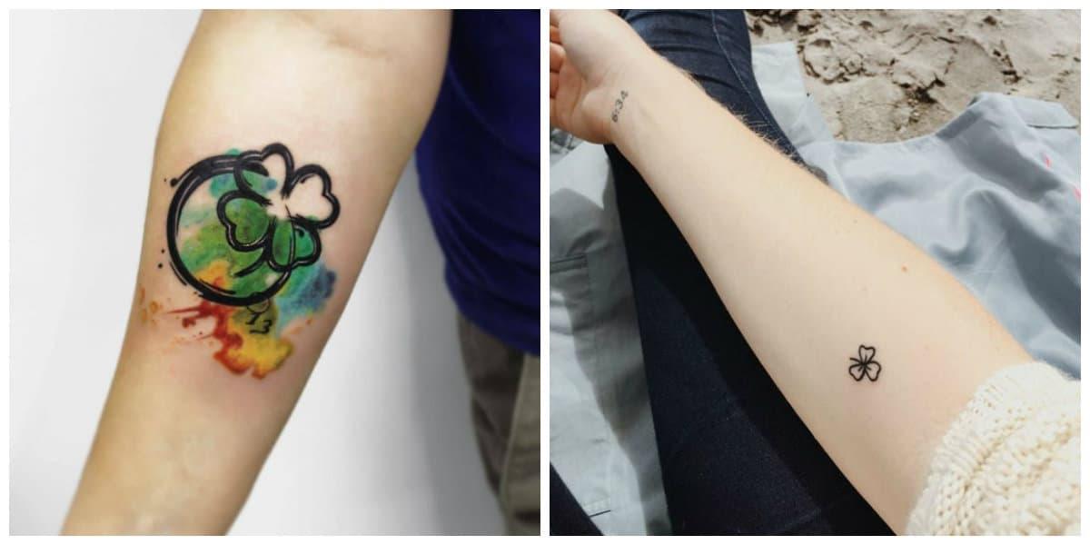 Tatuajes de trebol- para todos los interesados entre mujeres y hombres