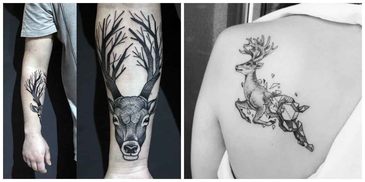 Tatuajes de venados- es un animal muy bonita para los hombres y las mujeres