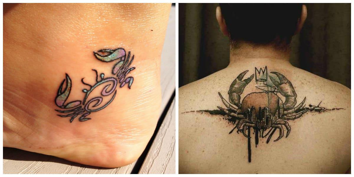 Tatuajes del signo Cancer- todas las tendencias princiaples de moda