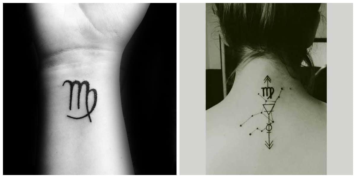 Tatuajes del signo Virgo- todas las tendencias prncipales representadas