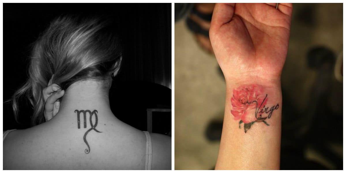 Tatuajes del signo Virgo- puede ir acompanado con otras imagenes interesantes