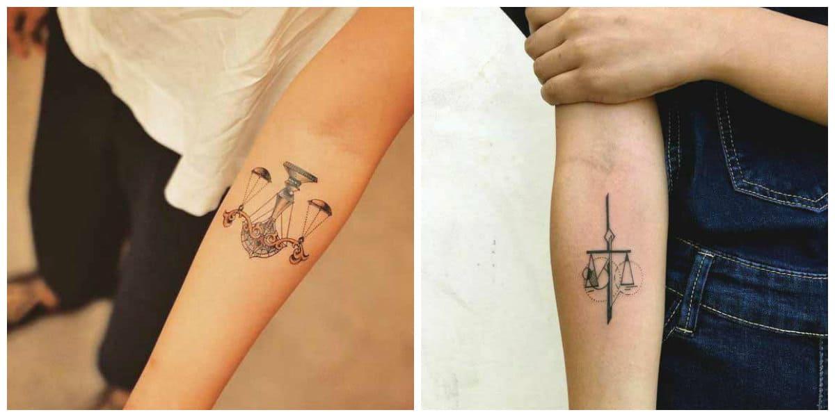 Tatuajes del signo libra- tendencias principales y modernas para todos interesados