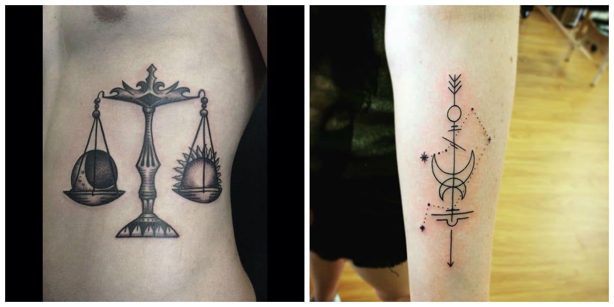 Tatuajes del signo libra- es una perfecta idea tanto para hombres como mujeres