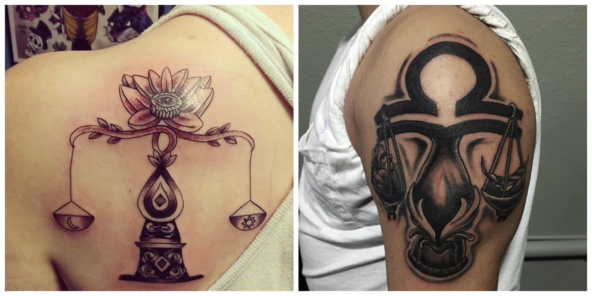 Tatuajes del signo libra- corrientes tendencias de moda para hombres y mujeres de moda