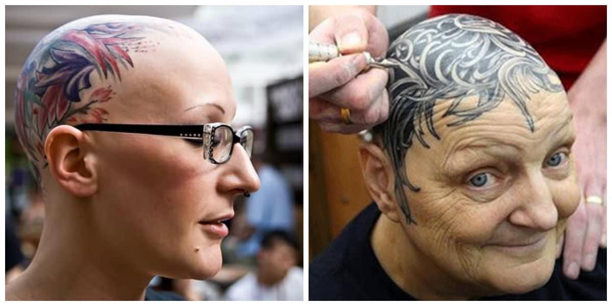 Tatuajes en la cabeza- tendencias femeninas muy modernas
