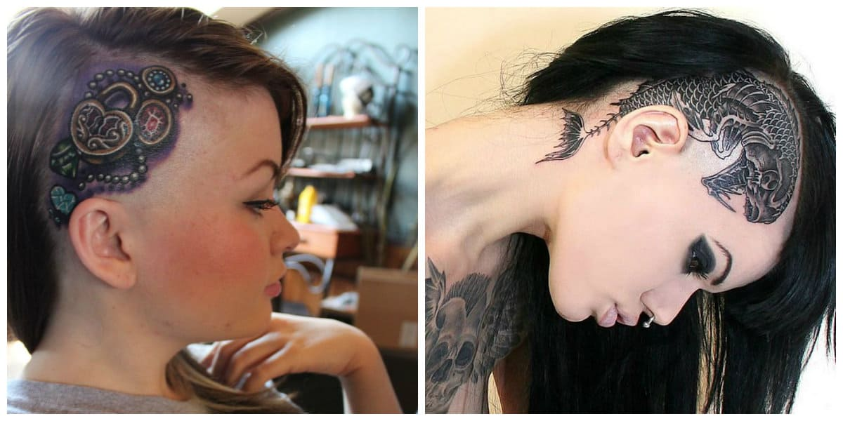 Tatuajes en la cabeza- hay que afeitarse parte de la cabeza para tatuarte