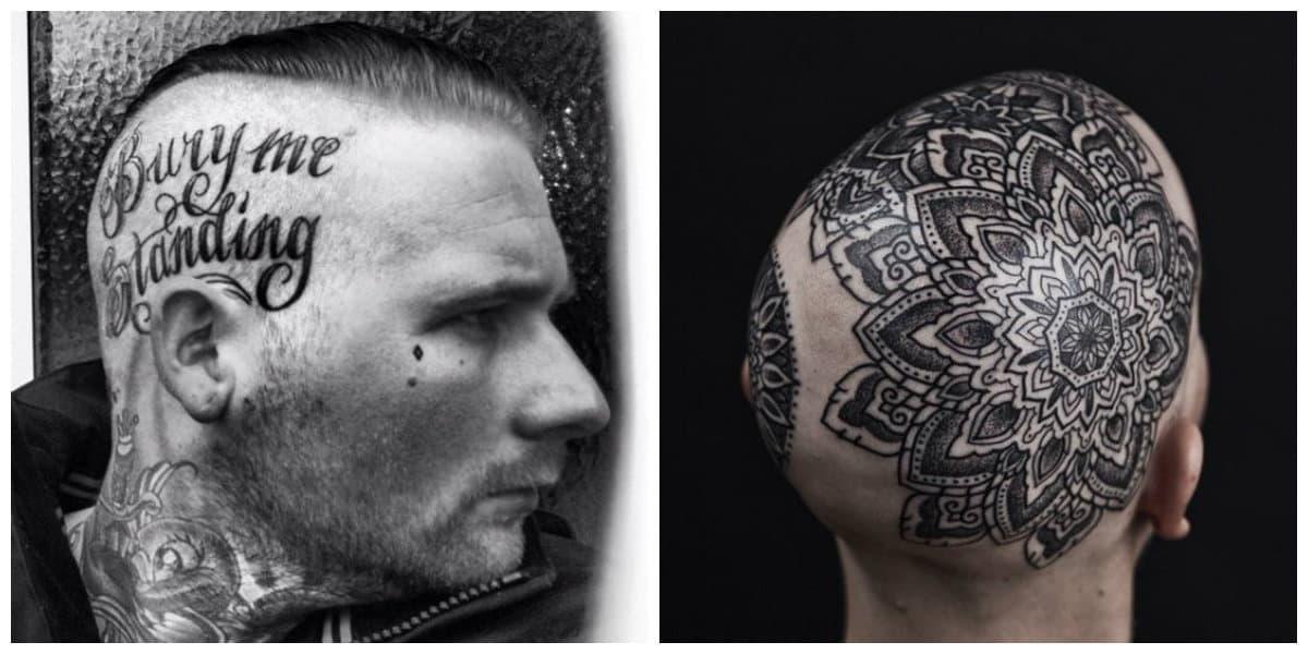 Tatuajes en la cabeza- ideas interesantes para los hombres modernos