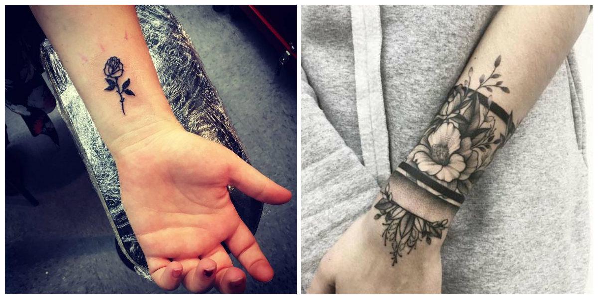 Tatuajes en la muñeca- son simbolos de femeninidad y elegancia