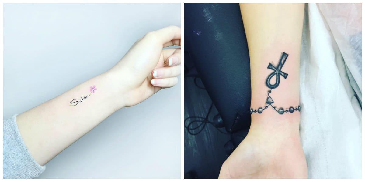 Tatuajes en la muñeca- las chicas prefieren imagenes de tamanos pequenos