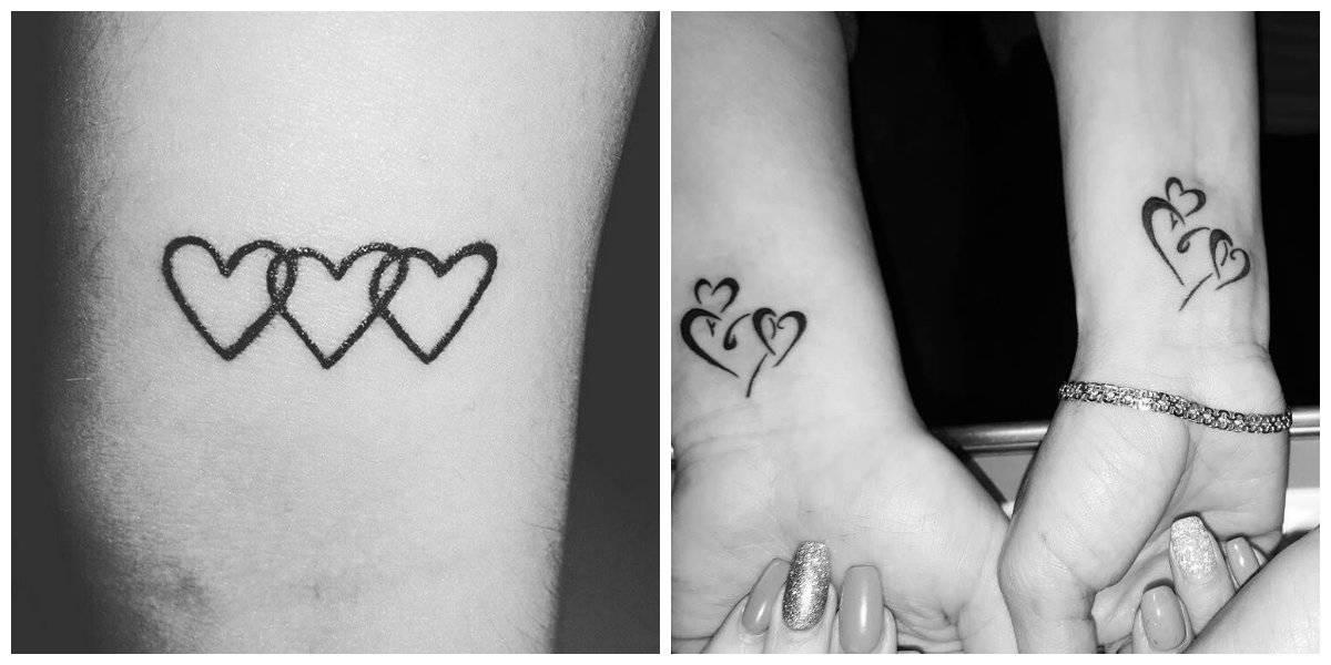 Tatuajes mas populares- diferentes formas de corazones rperesentan amor eterno