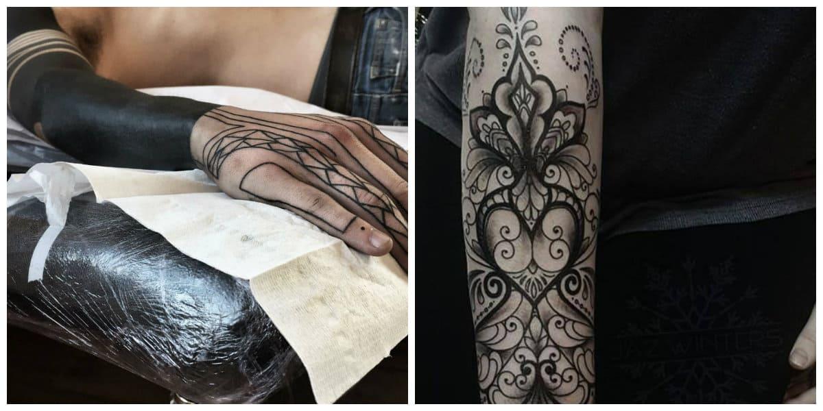 Tatuajes mas populares- tatuajes en negro que se ven muy ricos y perfectos