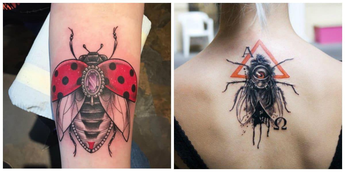 Tatuajes para mujer en el brazo- insectos como imagenes favoritos