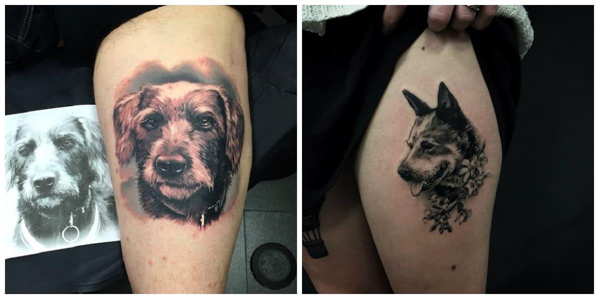 Tatuajes perros- asi puedes expresar tu amor hacia tu mascota
