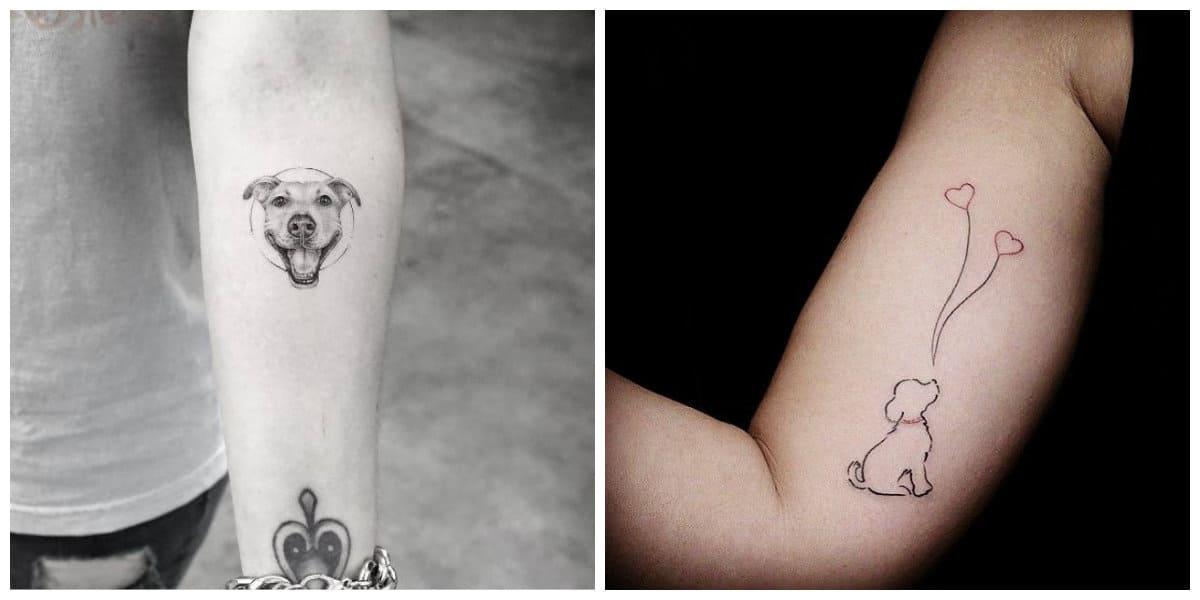 Tatuajes perros- ideas interesantes para cavar pero sobre tus brazos