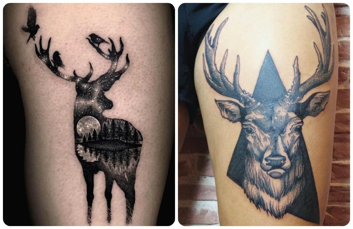 Tatuajes De Ciervos Ideas Y Significado De Tatuajes Atractivos Y