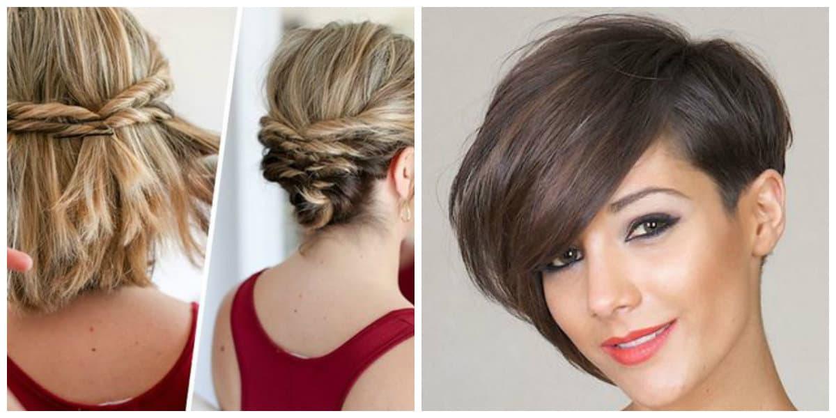 Estilos para pelo corto- colores de pelo diferentes