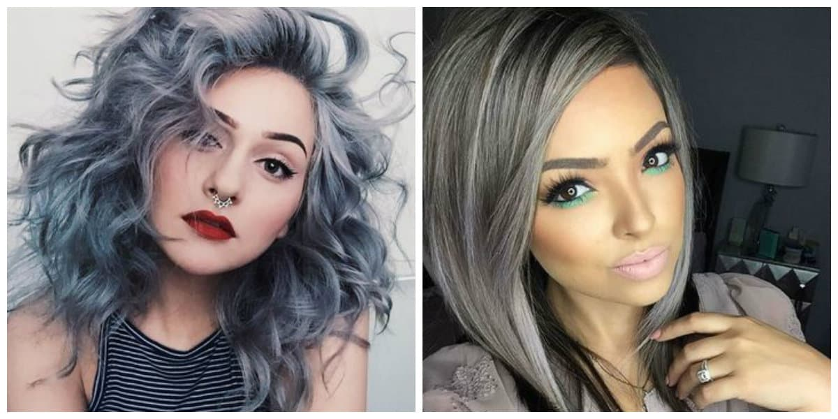 Peinados para abuelitas- color de pelo gris de moda