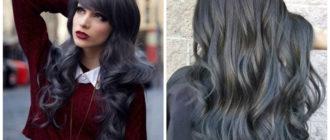 Peinados para abuelitas- color gris oscuro de moda