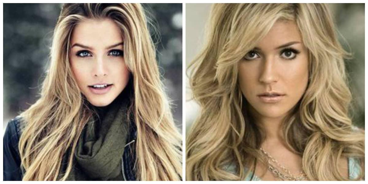 Peinados para cara larga- pelo de color claro