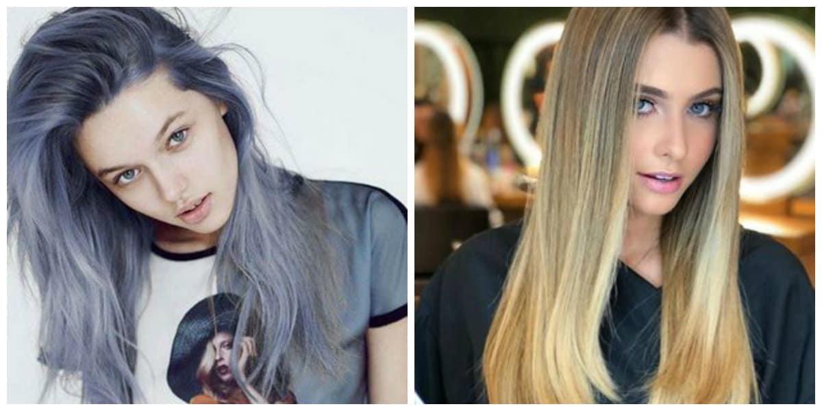 Tendencias de peinados 2019- colores contradictorios