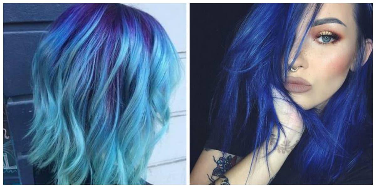Cabello azul- ideas de pelo azul para mujeres