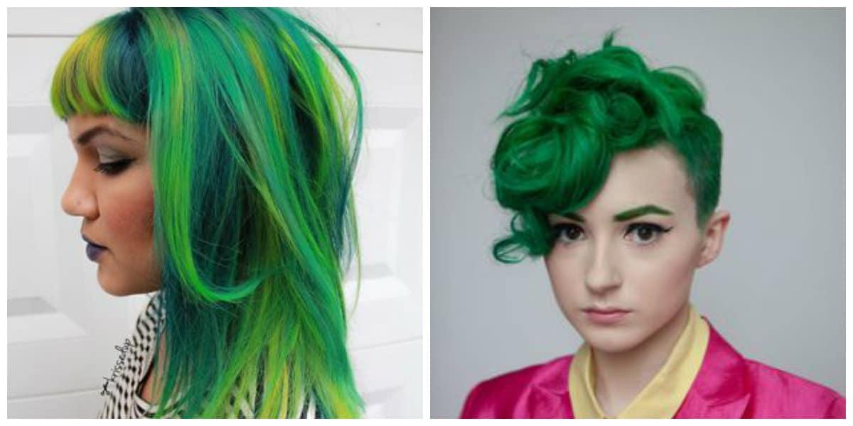 Cabello verde- tendencias del color verde de moda