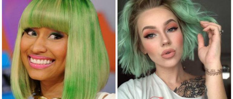 Cabello verde- tendencias principales de moda
