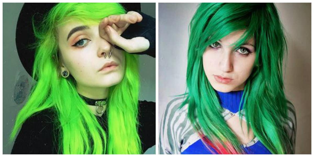 Cabello verde- para las chicas mas atrevidas