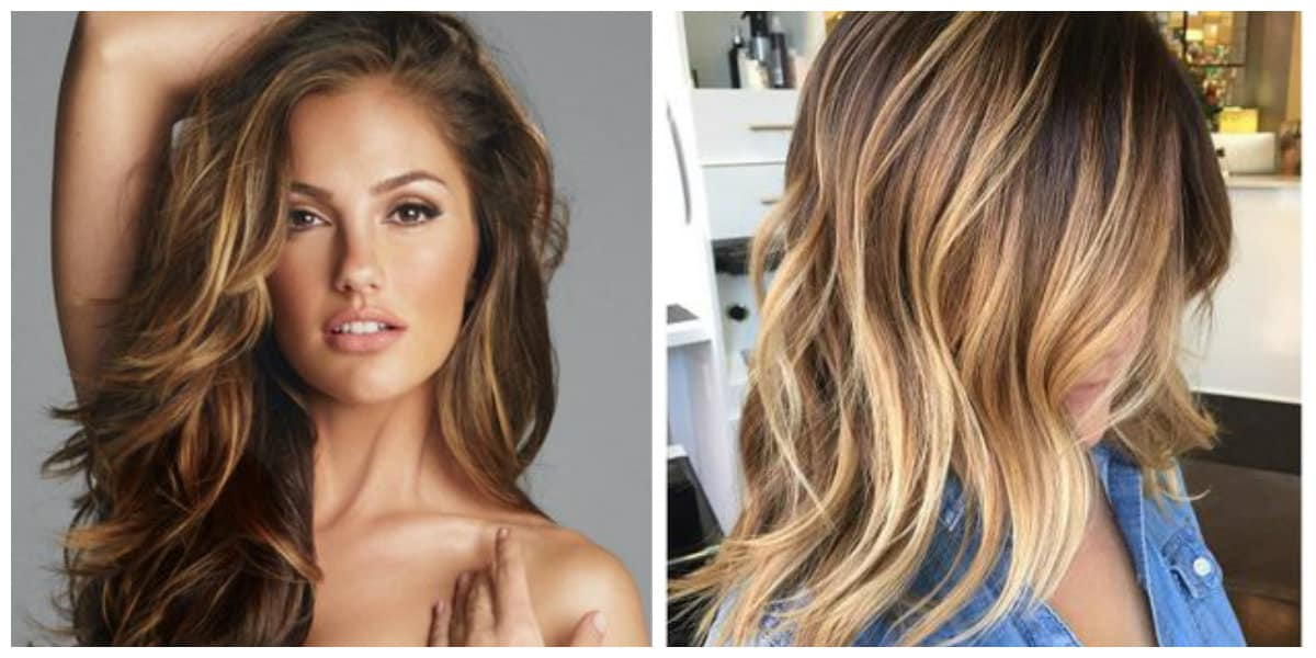 Color de pelo balayage- algunas ideas de moda