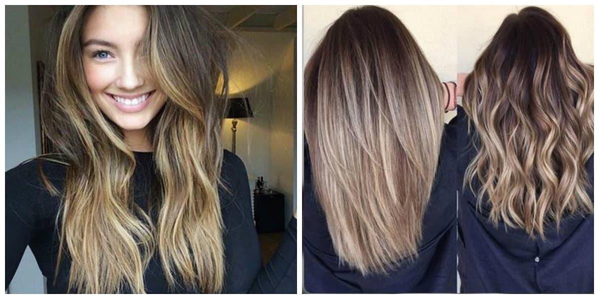 Color de pelo balayage- tendencias principales de moda