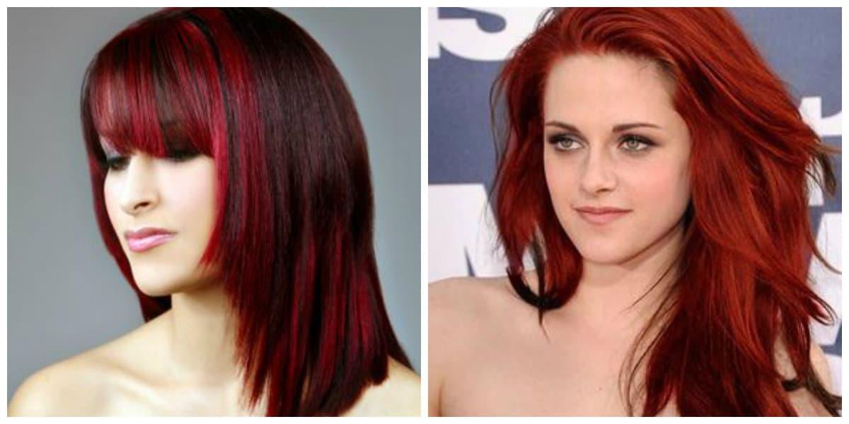 Color de pelo rojo- algunas ideas de moda