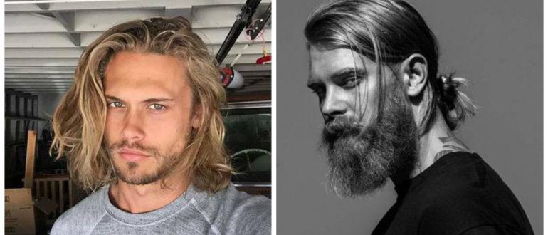 Cortes de cabello largo para hombre 2019- combinaciones