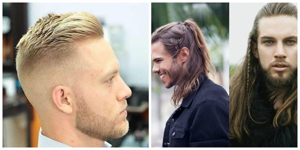 Cortes para hombres 2019- contraste de pelo largo y corto