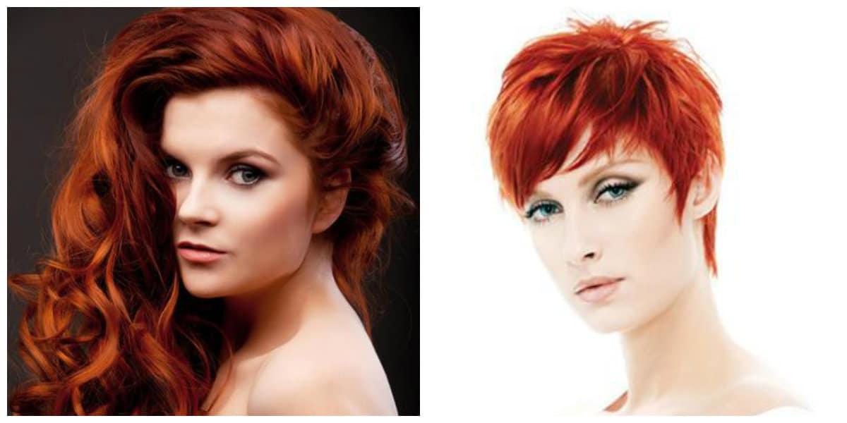 Peinados 2019- color de pelo rojo muy de moda