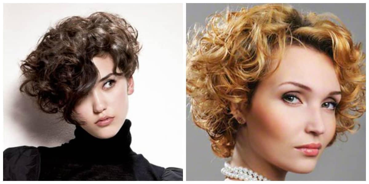 Peinados para pelo rizado 2019- colores en contraste