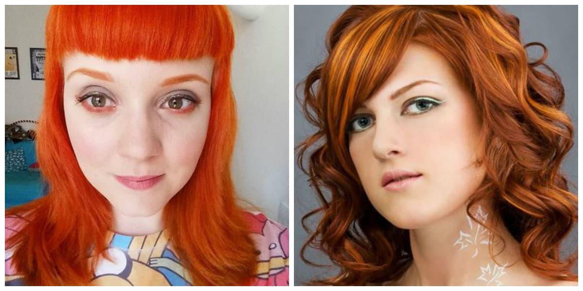 Pelo naranja- tendencias de moda de colores