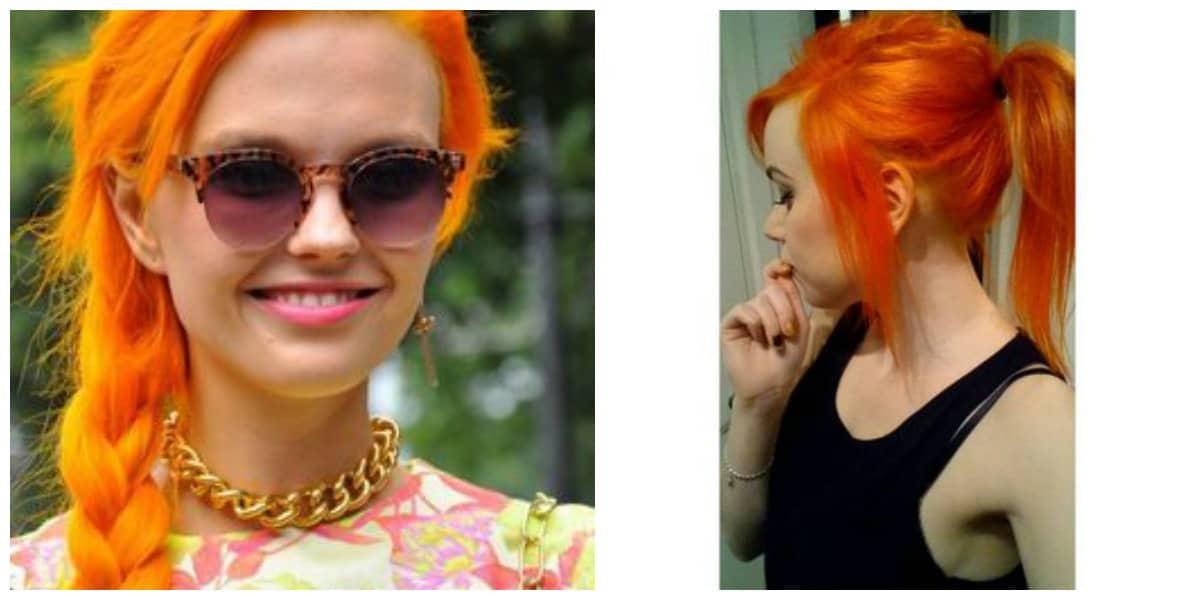 Pelo naranja- ideas de moda entre tendencias