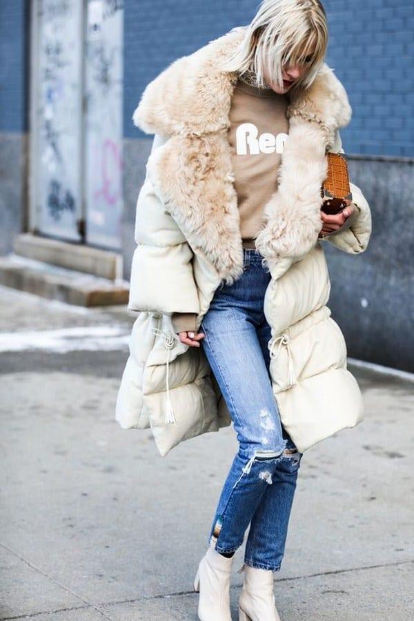 Chaquetas para mujer 2019- color blanco en chaqueta de invierno
