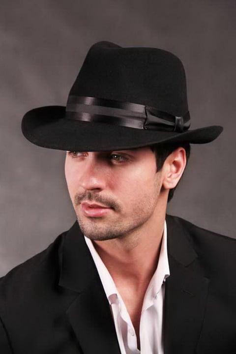 Sombreros para hombre 2019- sombrero negro muy clasico y elegante