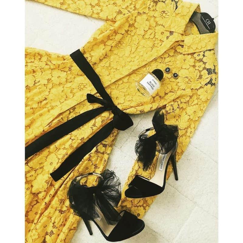 Vestidos de noche 2019- combinacion de vestido con tacones