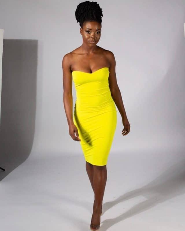 Vestidos de noche 2019- color amarillo esta en tendencias 2019