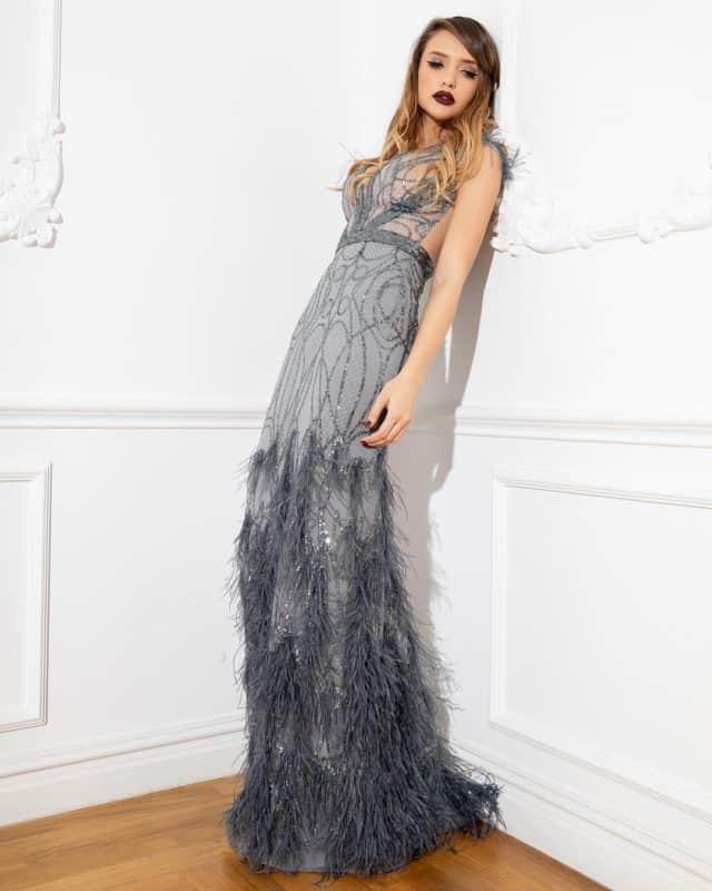 Vestidos de noche 2019- algunos colores que corresponden a moda
