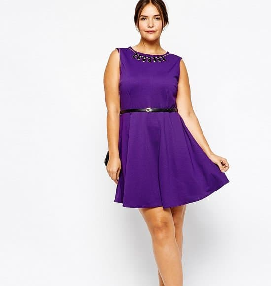 Vestidos tallas grandes 2019- color violeta esta en tendencia